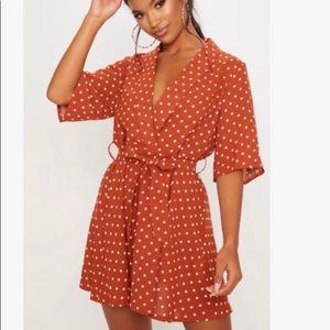 Polka Dot Orange Dress